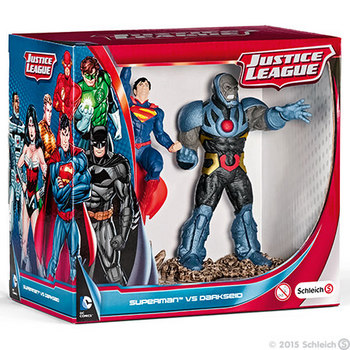"DC Comics Schleich Justice League Superman Vs Darkseid 4.5"" PVC 2 pack Figurines #4005086225091"