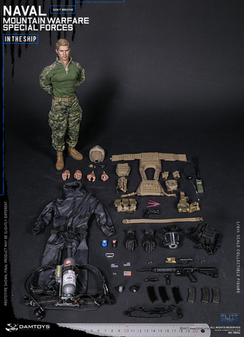 """DAM Toys 1/6 Scale 12"""" US Naval Mountain Warfare Special Forces Figure 78051 #78051"""