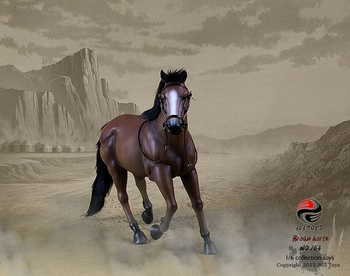 """303 Toys 1/6 Scale 12"""" Brown Horse Action Figure No. 103 #103"""