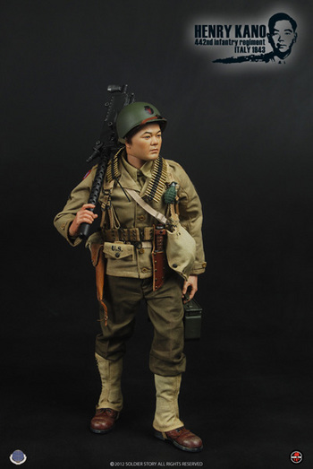 Soldier Story 1/6 Scale WWII Japanese Henry Kano 442nd Infantry Regiment Action Figure SS059 #SS-059