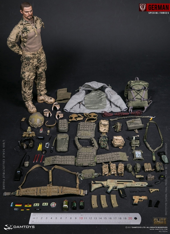 Flektarn Combat Uniform Set Damtoys Action Figures KSK Assaulter 1/6 Scale