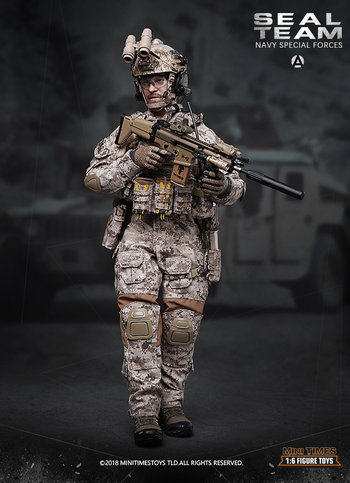 "Mini Times 1/6 Scale 12"" US Seal Team Navy Special Forces Action Figure MT-M012 #MT-M012"