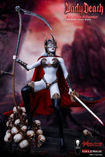 "TBLeague Phicen 1/6 Scale 12"" Lady Death Warrior Action Figure 2017-104B New #2017-104B"