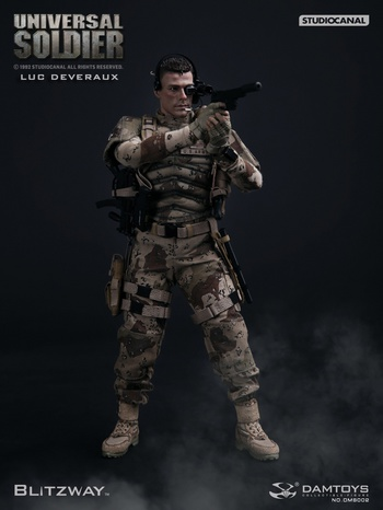 "DAMTOYS BLITZWAY 12"" 1:6 scale UNIVERSAL SOLDIER (Luc Deveraux) Van Damme Action Figure #S002"
