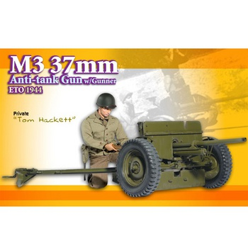 "Dragon 1/6 scale 12"" DX09 WWII US Army Soldier M3 37mm Gun Tom Hackett 70680 #70680"