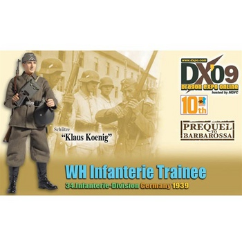 "Dragon Models DX09 WWII 1/6 scale 12"" German Soldier Trainee Klaus Koenig 70734 #70734"