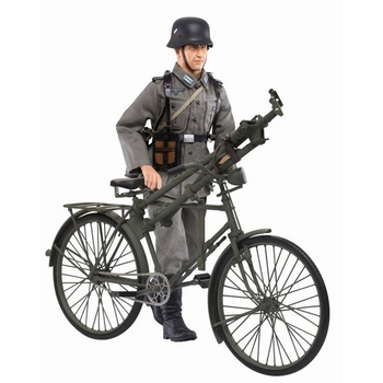 "Dragon 1/6 Scale 12"" WWII German MG Gunner Hubert Schreber & Bike Bicycle Action Figure 70748 #70748"