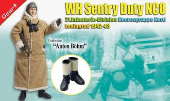 "Dragon WWII German Soldier 1/6 scale 12"" Sentry Duty NCO Anton Bohm 70731 #70731"