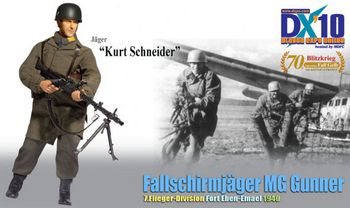 "Dragon 1/6 Scale 12"" WWII German Fallschirmjager MG Gunner Kurt Schneider Action Figure 70792 #70792"