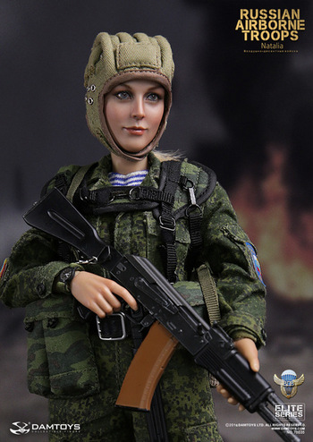 """DAM Toys 1/6 Scale 12"""" Russian Airborne Troops Female Natalia Action Figure 78035 #78035"""