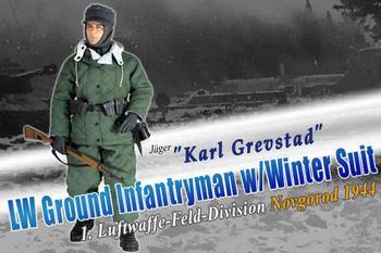 "Dragon 1/6 12"" WWII German Luftwaffle Karl Grevstad Winter Action Figure 70528S #70528S"