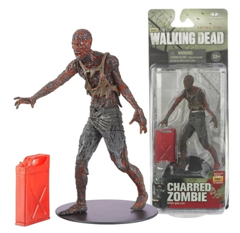 "McFarlane Toys Walking Dead Series 5 Charred Zombie 5"" Action Figure 14535 #WD-017"
