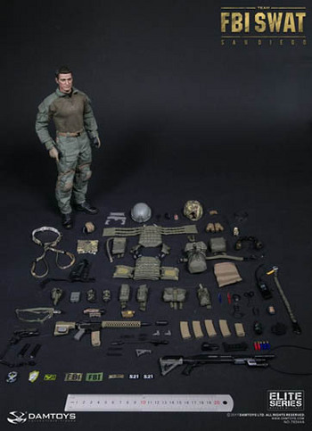 "DAM Toys 1/6 Scale 12"" FBI Swat Team Agent San Diego Action Figure 78044A #78044A"