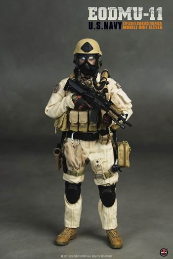 "Soldier Story 1/6 scale 12"" EODMU-11 U.S. Navy Explosive Ordnance Disposal Action Figure SS055 #SS-055"
