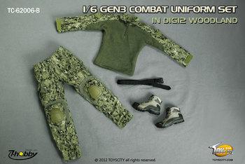 """TOYS CITY GEN3 Uniform Set Digi2 Woodland for 1/6 Scale 12"""" Figures 62006B #62006B"""