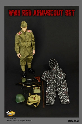 "Toys City 1/6 Scale 12"" WWII Red Army Scout Accessory Set for Action Figure  #68003"