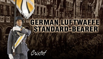 "DID 1/6 Scale 12"" WWII German Luftwaffle Standard-Bearer Cristof D80082  #D80082"