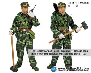 """DID 1/6 Scale 12"""" PAP The Peoples Armed Police Force Rescue Team Figure M5002 #M50002"""