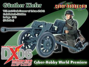 "Dragon Cyber-Hobby 1/6 Scale 12"" WWII German Anti-Tank Gunther Kiefer Action Figure 2.8cm sPzB41 70514 #70514"