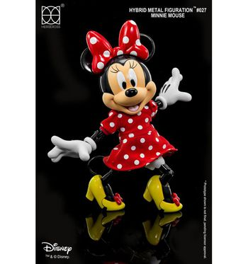 "HEROCROSS Disney's Minnie Mouse Hybrid Metal Figuration 5.5"" Tall Action Figure #H02"