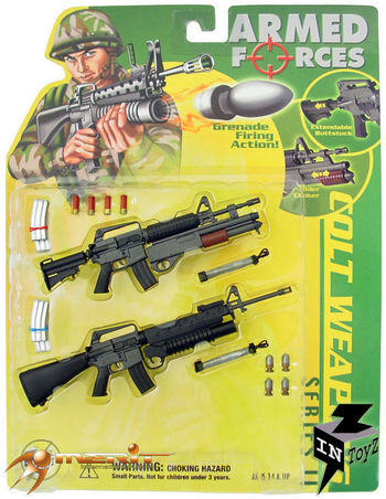 """InToyz Armed Forces 1/6 Scale Colt Weapons Set Series II for 12"""" Action Figure #It-1991"""