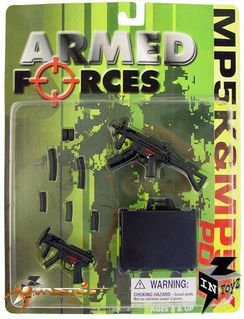 """InToyz Armed Forces 1/6 Scale H.K. PDW, MP5K W/CARRYING CASE for 12"""" Figure #IT-1989"""