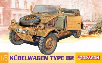"Dragon 1/6 Scale 12"" WWII German Kubelwagen Model Kit 75003 #75003"
