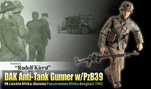 Dragon 1/6 Scale 12'' WWII German Soldier DAK Anti-Tank Gunner Rudolf Kierst Action Figure 70820 #70820