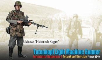 """Dragon 1/6 Scale 12"""" WWII German Light Machine Gunner Heinrich Sager Action Figure 70851 #70851"""
