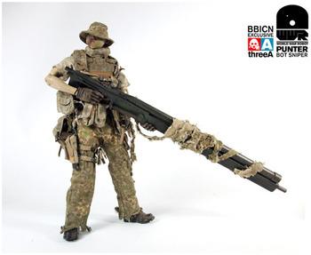 """3A THREEA BBICN World War Robot WWR Punter Bot Sniper 1/6 Scale 12"""" Figure #3A-004"""