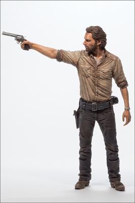 "2014 McFarlane Toys The Walking Dead Rick Grimes 10"" Deluxe Action Figure #MC-001"