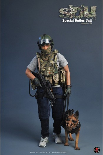 """Soldier Story 1/6 Scale 12"""" Special Duties Unit Assault K9 Action Figure SS-097 #SS-095"""