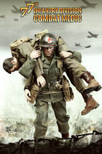 "DID 1/6 Scale 12"" WWII US 77th Infantry Division Combat Medic Dixon A80126 A80126"