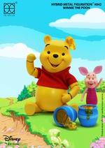 "HEROCROSS Disney's Winnie The Pooh & Piglet Hybrid Metal Figuration 5"" Figure H04"