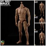 "ACI 1/6 Scale 12"" Muscular Nude Male Caucasain Body Bruce Action Figure AB10 AB10"