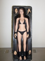 "Phicen 1/6 Scale 12"" Female Body Large Bust Black Bikini Hot Toys PALE Skin  PLLB2013-12"