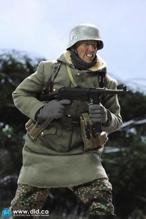 "DID 1/6 Scale 12"" WWII German SS-Panzer-Division Das Reich MG42 Gunner B Egon Action Figure D80131 D80131"