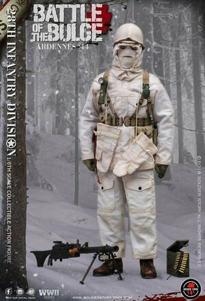 "Soldier Story 1/6 Scale 12"" WWII US Army 28th Infantry Action Figure SS-111 SS-111"