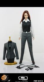 "Pop Toys Poptoys 1/6 Scale 12"" Female MI6 Agent Grey Suit Version POP-X17C POP-X17C"