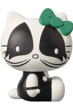 "2013 Medicom Sanrio Kiss Hello Kitty The Catman 4"" Vinyl Collectible Doll M-01"