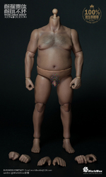 """WorldBox 1/6 Scale 12"""" Body Crazy Durable Plump Male Nude Body AT018 AT018"""