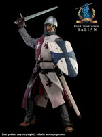"PANGAEA 1/6 12"" French Crusader Knight General Balian Figure (Regular Version) PG04A"