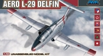 AMK 1/48 Scale Aero L-29 Delfin 1996 Czech Unassembled Model Plane Kit 88002 88002