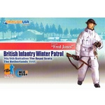 "Dragon Models WWII 1/6 scale 12"" British Infantry Winter Patrol Fred Jones 70702 70702"