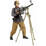 "Dragon WWII 1/6 scale 12"" German Soldier Anti-Aircraft MG Johann Meiler Action Figure 70720 70720"