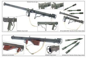 "WWII 1/6 sale 12"" US American Bazooka Set M1A1, M9A1 Kit 75008 New 75008"