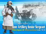"Dragon Model WWII German 1/6 scale 12"" Heer Artillery Sergeant Adler Augen 70625 70625"