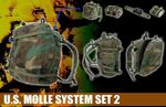 """Dragon Modern US 1/6 scale Molle System Set 2 for 12"""" Action Figures 71149 71149"""