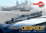 Dragon Can.Do Cyber Hobby 1/144 Scale WWII German Winter Leopold Railway Gun 20153