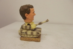 "Salvino Bammer Heads President 8"" George W Bush In Tank Bobblehead  SAL-01"